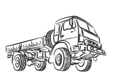 Heavy truck. Drawing of the heavy truck Stock Photography