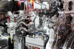 Heavy truck engine Stock Images