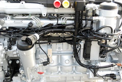 Heavy truck engine Stock Image