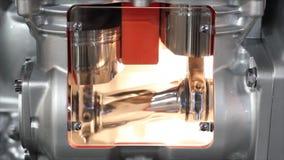Heavy truck engine cylinder work stock video footage