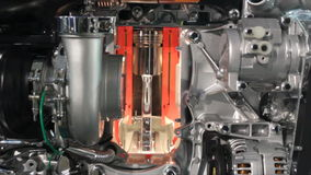 Heavy truck engine detail stock video