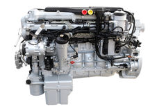 Heavy truck engine isolated Royalty Free Stock Images