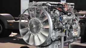 Heavy truck engine stock video