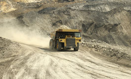 Heavy Truck. At the mining area s stock images