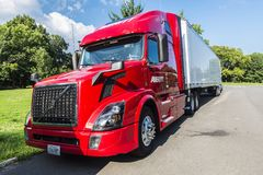 Heavy truck parked in New York City, USA stock photo