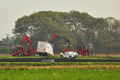 Heavy Truck recovery, England Stock Image