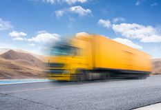 Heavy truck on the road Royalty Free Stock Image