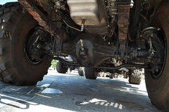 Heavy truck suspension Royalty Free Stock Images