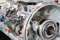 Heavy truck transmission detail Royalty Free Stock Photo