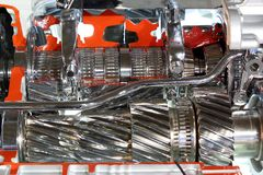 Heavy truck transmission gears Royalty Free Stock Photo