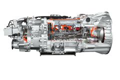 Heavy truck transmission isolated Stock Photo