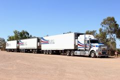 Heavy truck transport Outback Australia Stock Image
