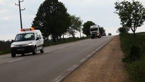 Heavy truck transportation stock video
