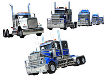 Heavy trucks isolated Royalty Free Stock Images