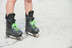 Heavy used roller skates Royalty Free Stock Images