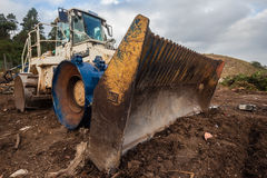 Heavy Machinery Grader Bin Waste  Royalty Free Stock Image