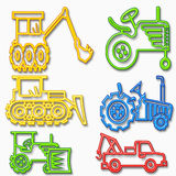 Heavy vehicle set Royalty Free Stock Photos