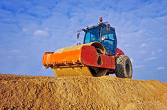 Heavy Vibration roller at asphalt Royalty Free Stock Image