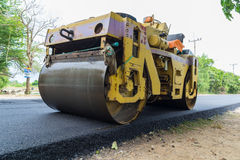 Heavy Vibration roller compactor Stock Image