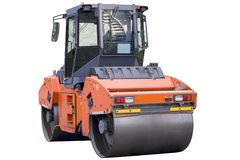 Heavy vibration roller compactor or road roller royalty free stock photography