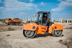 Heavy Vibration roller Stock Images