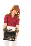 Heavy vintage black typewriter Royalty Free Stock Photos