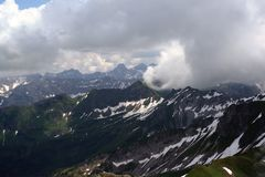 Heavy weather in the alps Germany Royalty Free Stock Photography