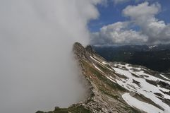 Heavy weather in the alps Germany Royalty Free Stock Image