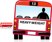 Heavy Weight. Overweight Person, bus Royalty Free Stock Image