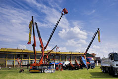 The Heavy Weight Expo - Palfinger Cranes Royalty Free Stock Photo