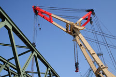 Heavy Weight Industry Crane V Stock Images