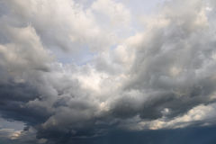 Heavy white and grey clouds before rain Royalty Free Stock Photo