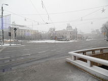 Heavy winter in Bucharest. Royalty Free Stock Photo