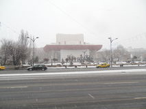Heavy winter in Bucharest. Royalty Free Stock Photos