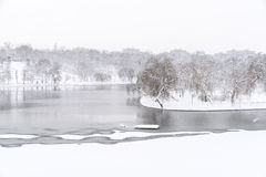 Heavy Winter Snow In Bucharest Royalty Free Stock Image