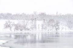 Heavy Winter Snow In Bucharest Stock Image