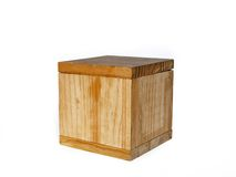 Heavy Wooden Box. Studio shot of a very large, heavy wooden box or crate used for storage or shipping Royalty Free Stock Photos