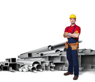 Heavy worker Stock Photo