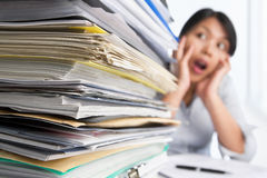 Heavy workload Stock Photo