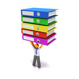 Heavy workload. Concept, 3d render, white background Royalty Free Stock Photography