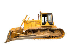 The heavy yellow bulldozer Stock Photo
