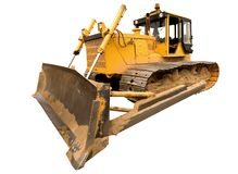 The heavy yellow bulldozer Royalty Free Stock Image
