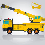 Heavy yellow crane. Stock Photo