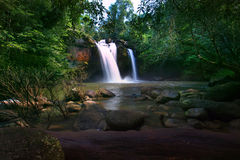 Heaw Suwat Waterfalls in KhaoYai National park important natural Royalty Free Stock Photography