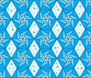 Heaxogon line style star blue seamless pattern Stock Photography