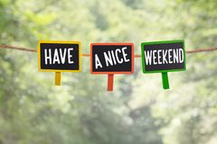 Heb aan boord een aardig weekend stock foto