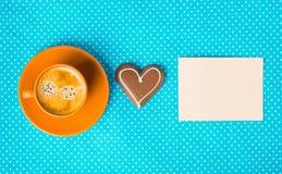Heb een aardige dag, goedemorgen met kop van koffie Royalty-vrije Stock Foto