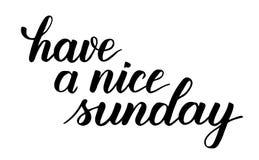 Heb een aardige kalligrafie van de zondagborstel royalty-vrije illustratie