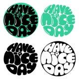 Heb een Dag van Nice van letters voorziend met de hand gemaakte vectorkalligrafie Stock Fotografie