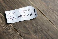 Heb een groot Weekend Royalty-vrije Stock Foto's